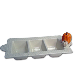 Interchangeable Ceramic 3 Section Tray