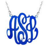 JEWELRY ACRYLIC MONOGRAM NECKLACE