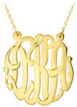 JEWELRY MONOGRAM NECKLACE